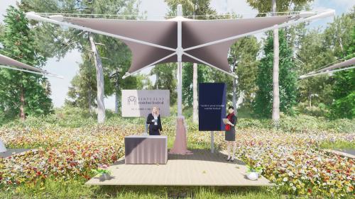 Stánek virtuálního festivalu