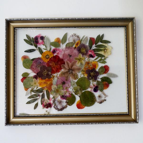 mix svatební květiny v obraze