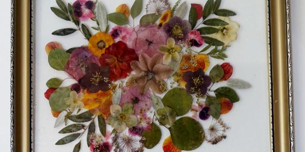 sušená svatební kytice v obraze
