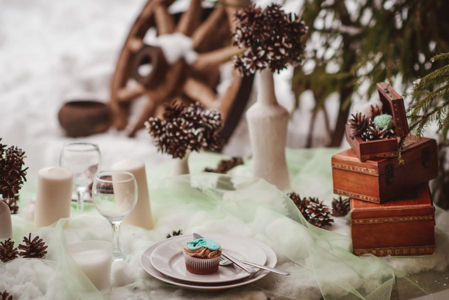 Zimní svatební tabule