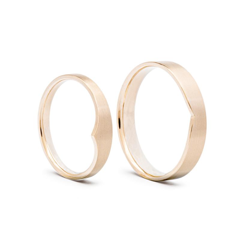 Designové snubní prsteny vzájemné propojení od Evy Růžičkové