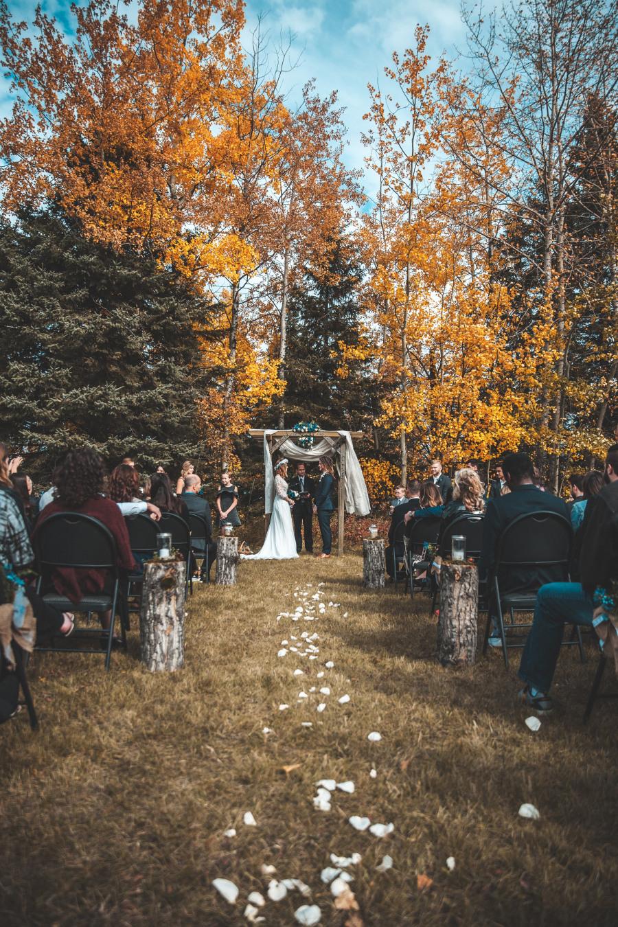 Místo na svatbu na podzim