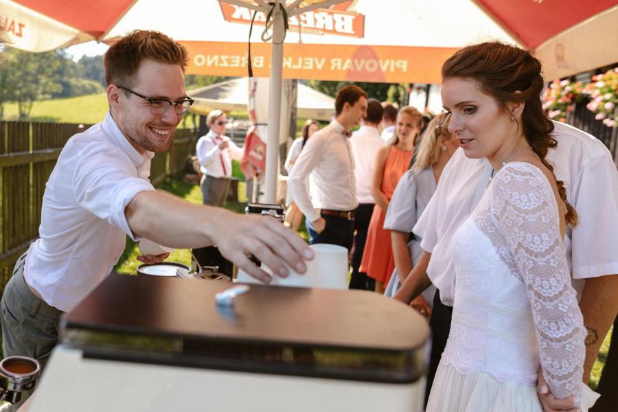 kávový catering na svatbu