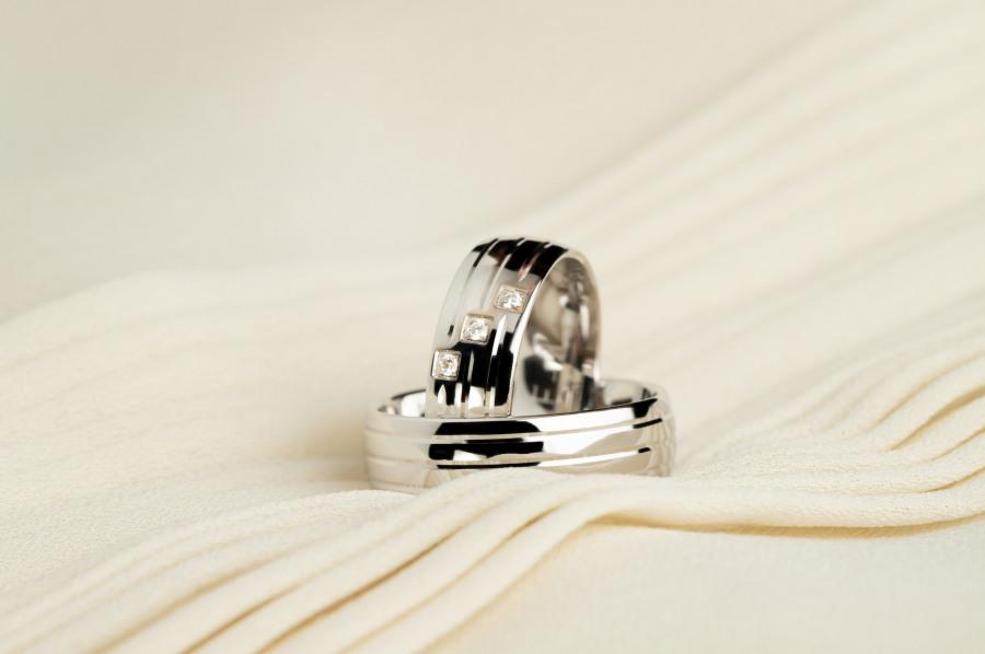 snubní prsteny z bílého zlata Luxur