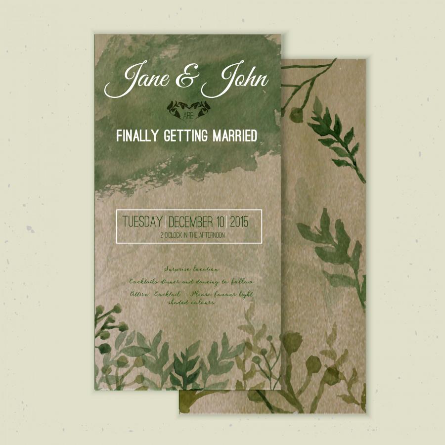 přírodní papír svatební oznámení