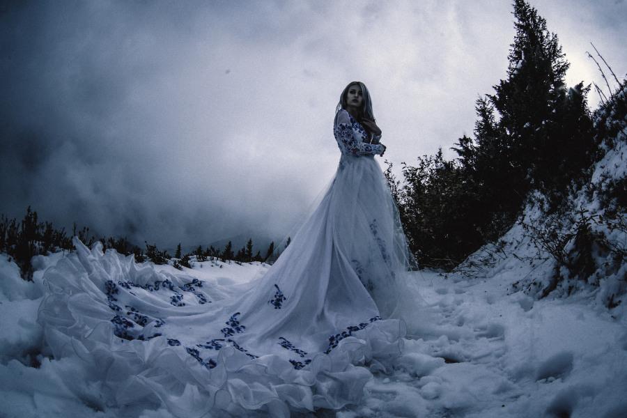 Focení na zimní svatbě