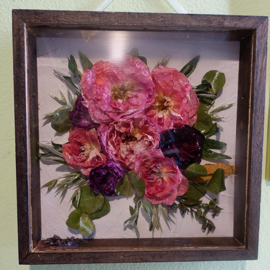 svatební květiny silicagel